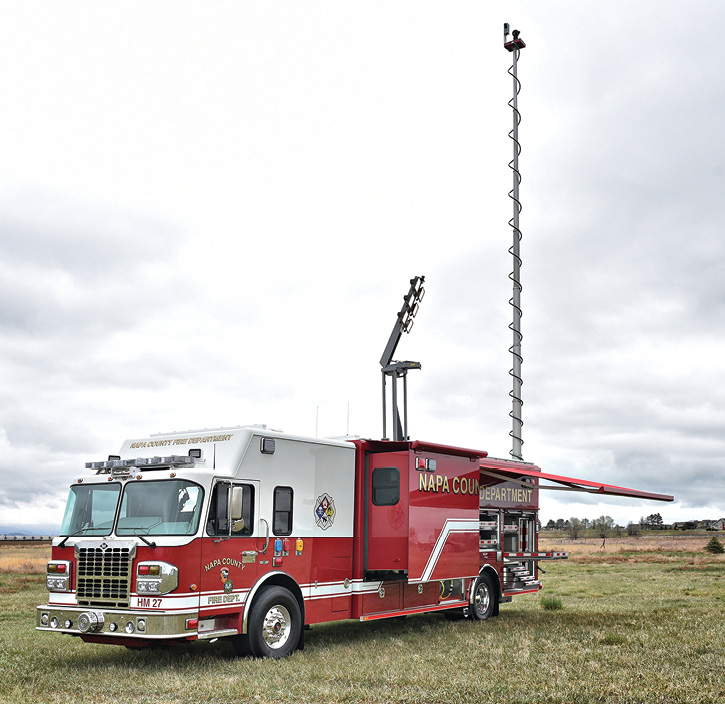 SVI Trucks built this haz mat response truck for the Napa (CA) Fire Department.