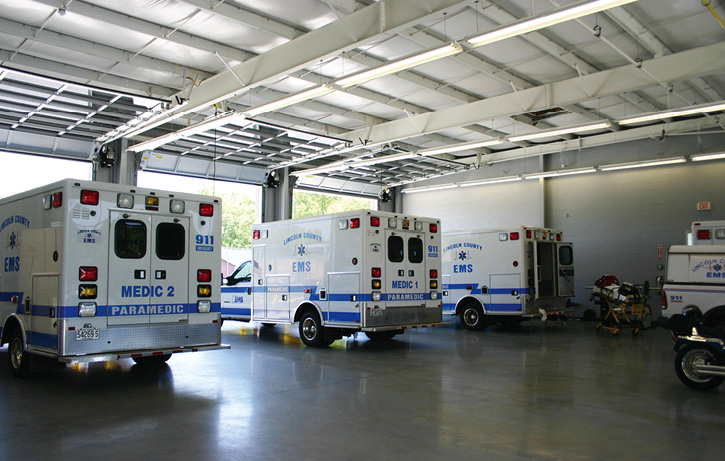 This EMS-only station was designed by SCN for Lincoln County (NC) EMS.