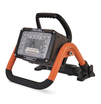 Akron Brass Company's Weldon Division makes the Revel Scout Portable LED Emergency Scene Light, which weighs 12 pounds and combines a spot and flood light pattern of 14,000 lumens.