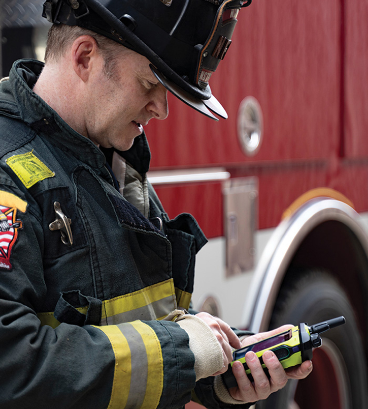 Motorola Solutions has introduced the APX NEXT XE Smart Radio, specifically for use by firefighters.