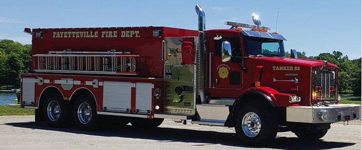 Tanker 85: two pump panels, 3,000 gallons, 1,500-gpm pump, two 4-inch tank-to-pump valves for high-volume flow when using tank to pump, and all the necessary equipment to classify as a pumper.
