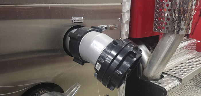 Large-diameter discharge for relay pumping.