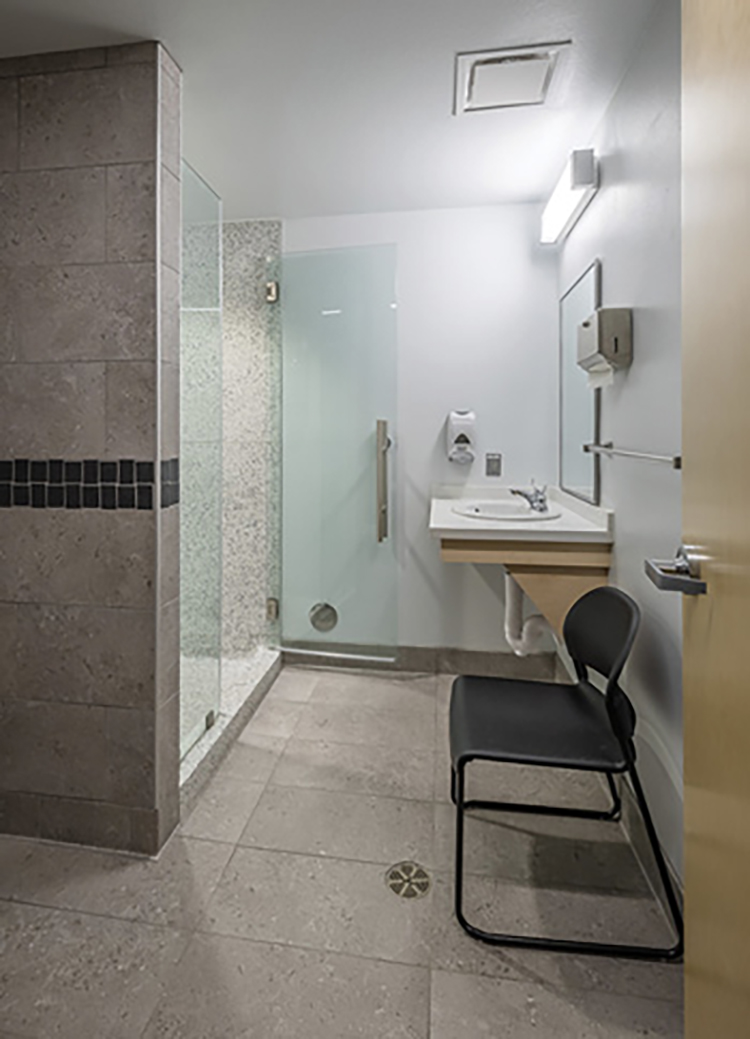 Breckenridge Group Architect Planners designed gender-neutral private bathroom/shower rooms for the Chandler (AZ) Fire, Health, and Medical Department's Station 2811.