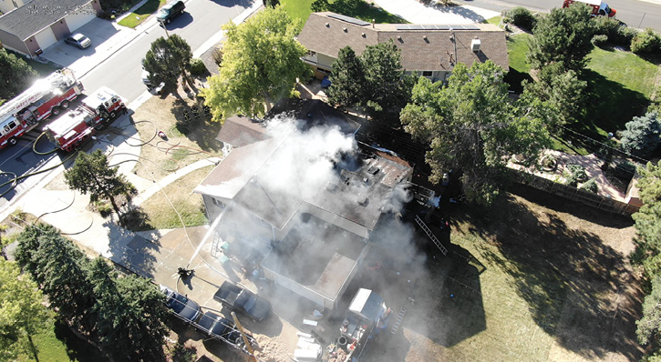 One of West Metro's UAVs gave this imagery to the incident commander during a recent structure fire.