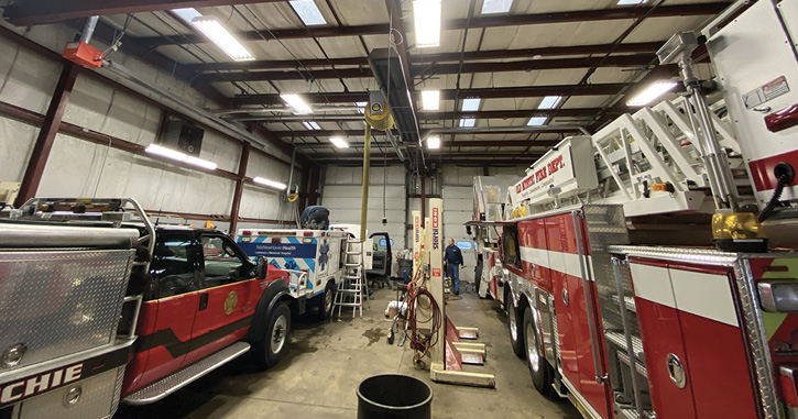 Shipman's certified technicians can service small paramedic units to large tower ladders.