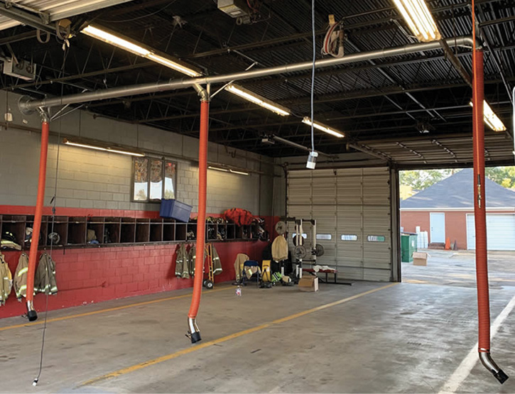 Air Cleaning Specialists Inc. makes the Fume-A-Vent vehicle exhaust removal system for fire and EMS stations.