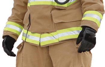 Fire-Dex makes the Dex-Pro structural firefighting glove in a 3D design with fingers prebent for greater flexibility.
