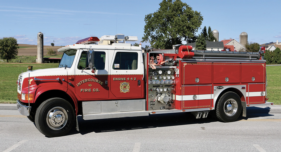 Engine 442, an E-ONE/International Navistar 4000 Series, has a five-person cab and 1,250-gpm pump and carries 1,000 gallons of water. This rig will soon be replaced with a preowned pumper purchased from Brindlee Mountain Fire Apparatus.
