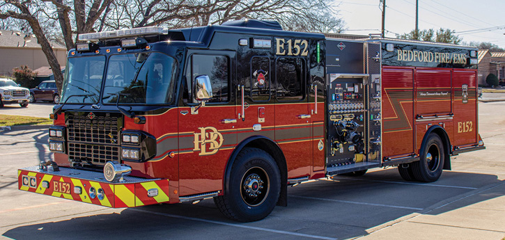 Spartan ER built this custom engine on a Spartan Gladiator LFD chassis and cab with 10-inch raised roof, Spartan APS, and WABCO Meritor Smart Track ESC.