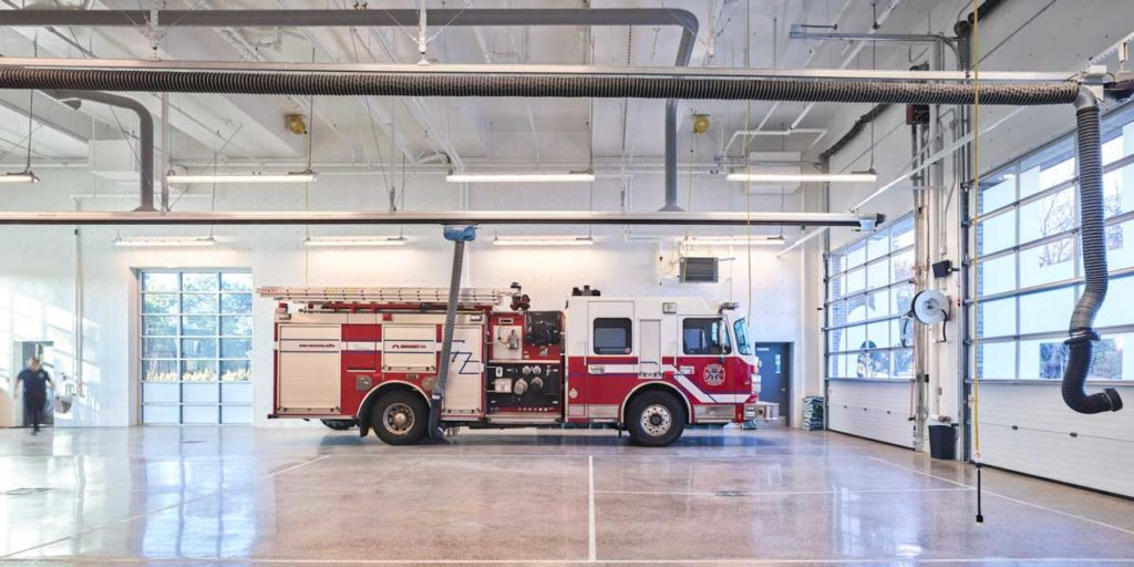 Vacounver fire station apparatus bay