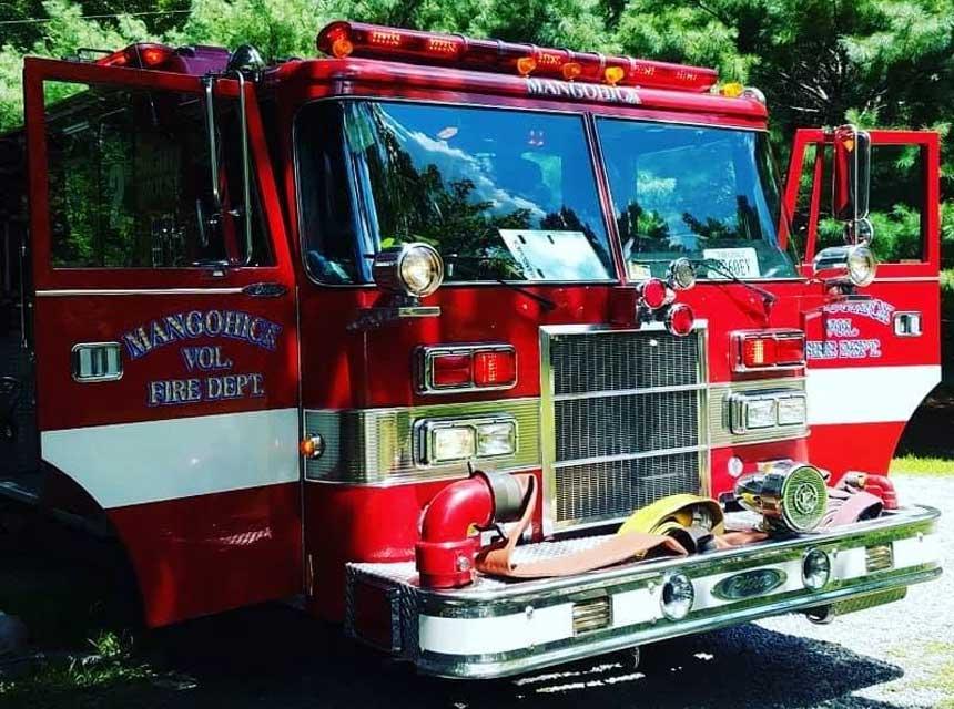 Mangohick Volunteer Fire Department apparatus VA