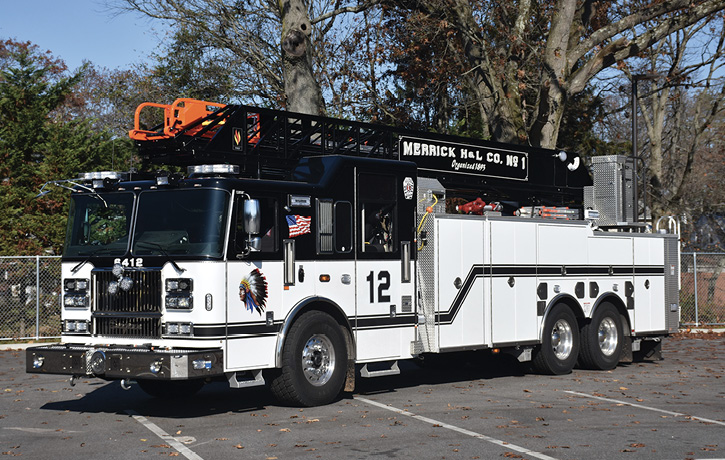 The 2019 Seagrave 100-foot rear-mount aerial.
