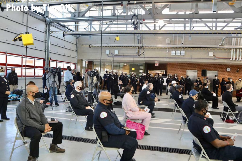 Officials attend ribbon cutting for Chicago Fire Department Engine Company 115