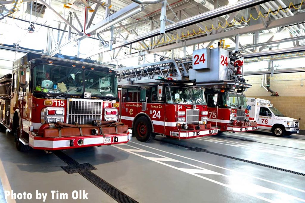 Chicago fire apparatus at Engine Company 115