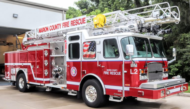 Marion County (FL) Fire Rescue Holds Push-In Ceremony for Ladder 2